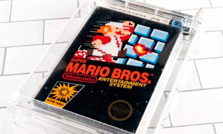 Subastan cartucho de Mario Bross con precio récord