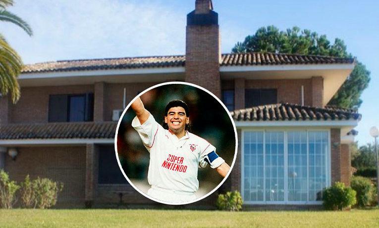 Se vende la casa de Maradona en Sevilla